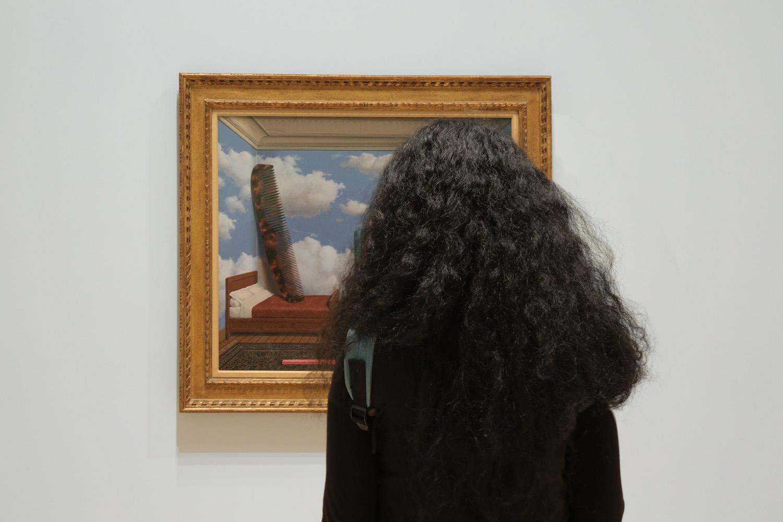 18-haircomb Magritte Exhibition,  SFMOMA,  San Francisco, California, 2018