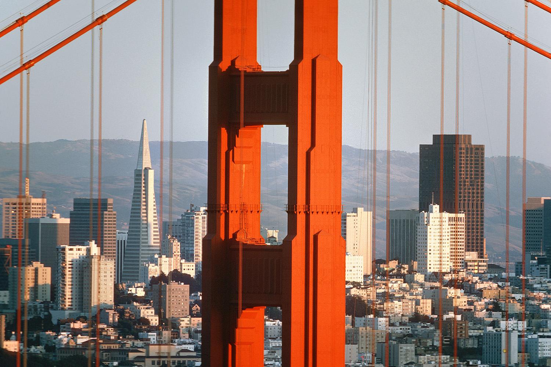 ggbridge Golden Gate, San Francisco, California, 1975