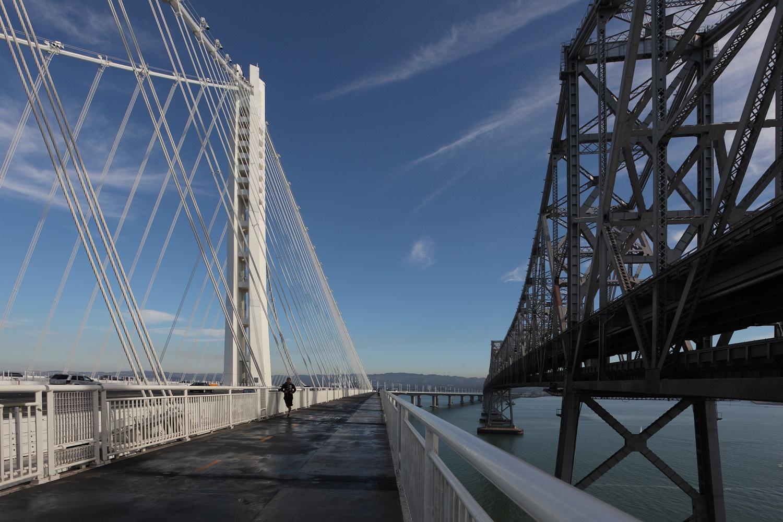 oldnewbridge New and Old Bay Bridge,  Treasure Island, California, 2013