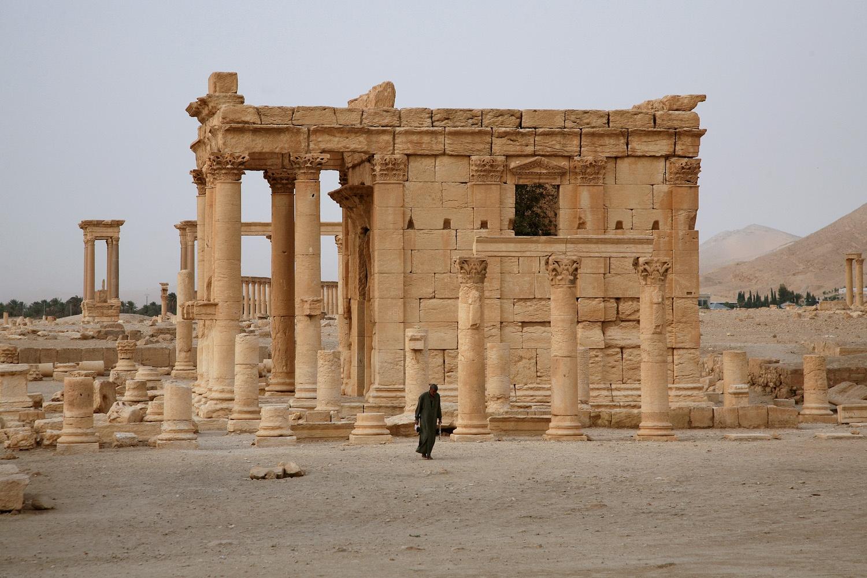 baalshamin Temple of Baal-Shamin,  (destroyed 2015),  Palmyra, Syria, 2008