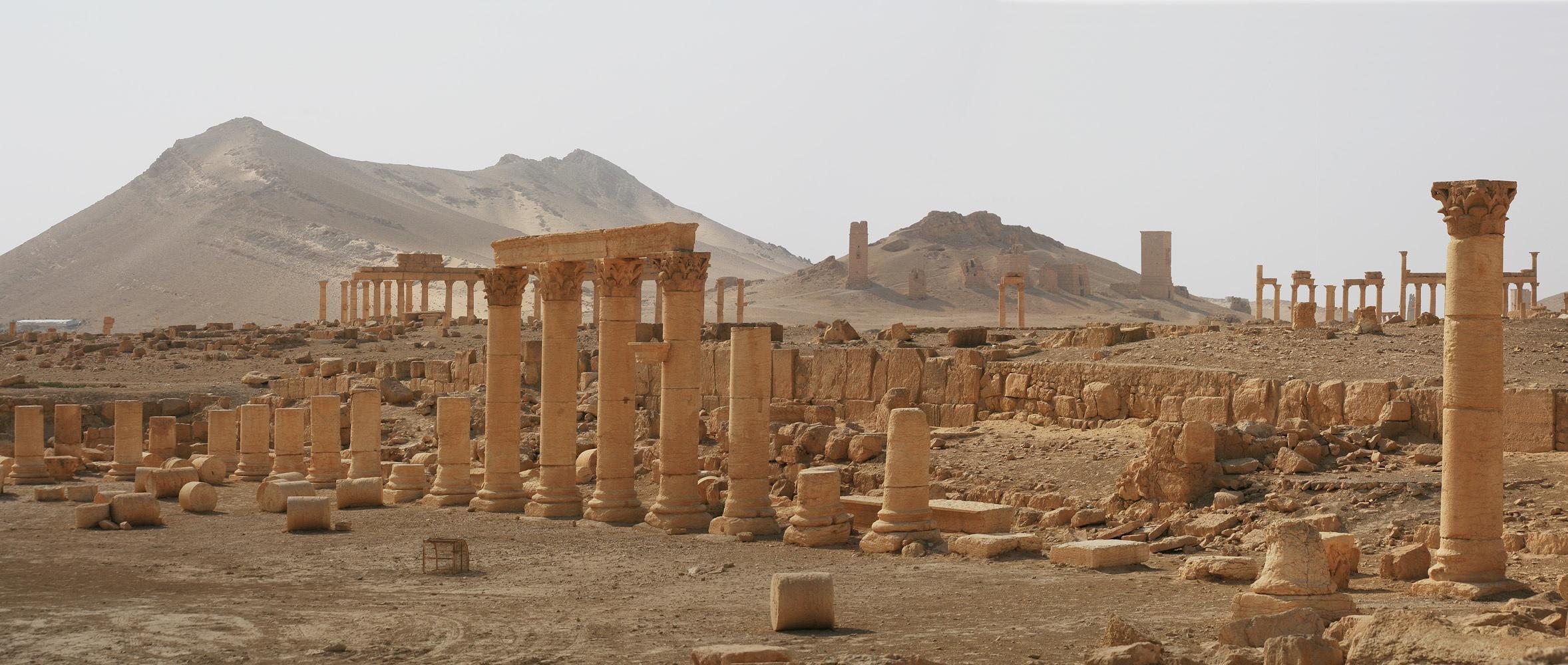 palmyrapan Caravanserai and Tombs,  Palmyra, Syria, 2008