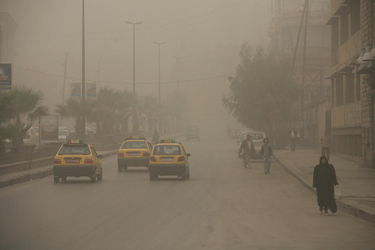 sandstorm Sandstorm, Leaving Aleppo, Syria, 2008