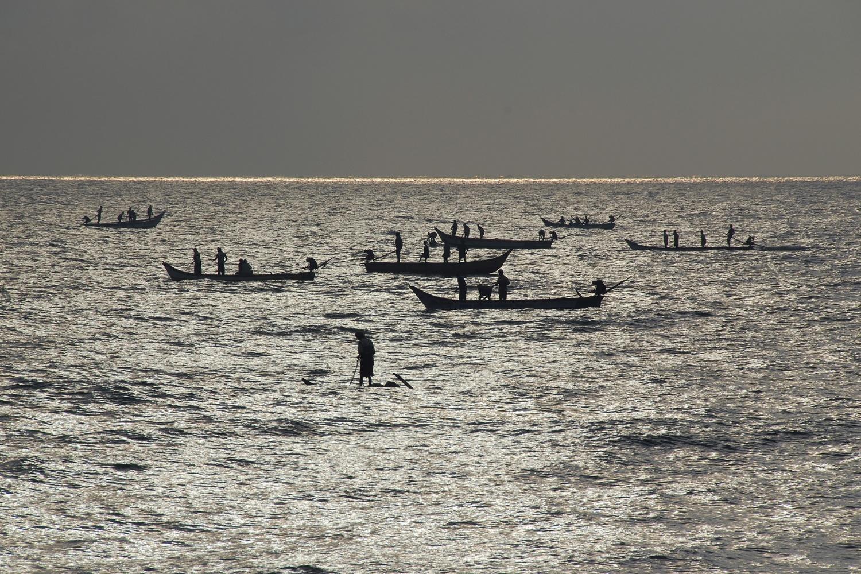 fishingboats Fishing Boats,  Pondicherry, India, 2007