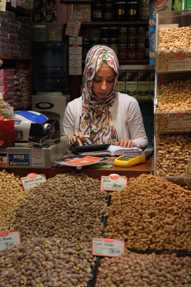 accounting Bookeeper,  Spice Market,  Istanbul, Turkey, 2010