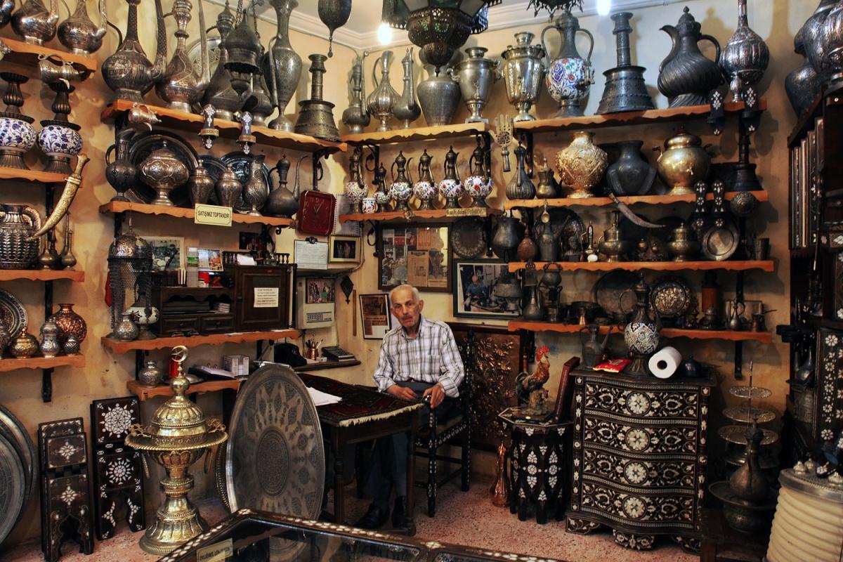 antiques Antique Vendor,  Grand Bazaar,  Istanbul, Turkey, 2010