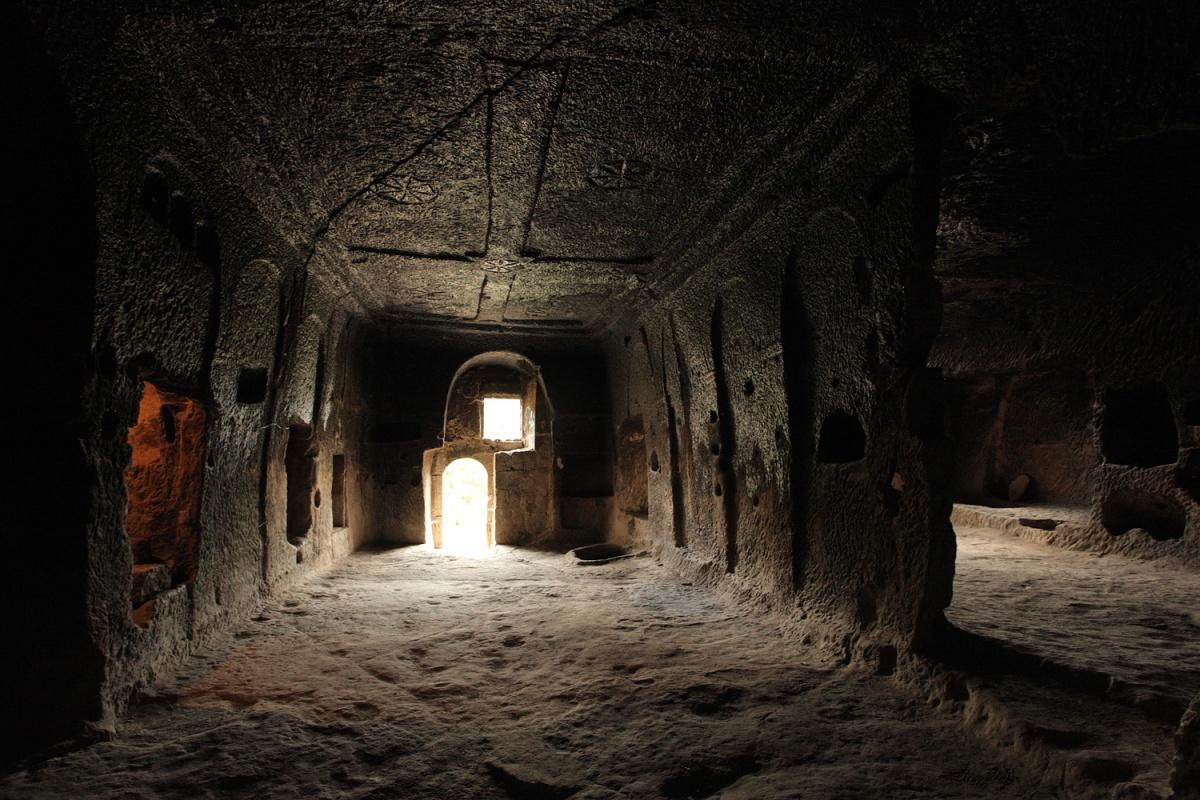 crossroom Church?,  Underground City,  Güzelyurt, Turkey, 2010