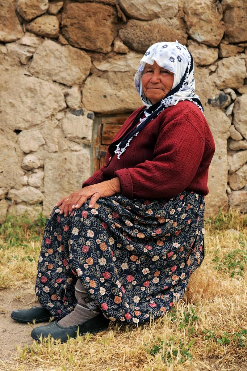 farmdress Farmwife,  Selime, Turkey, 2010
